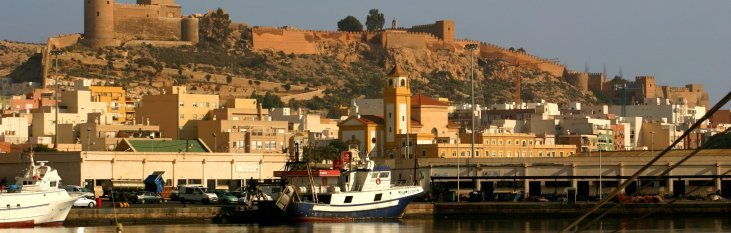 almeria, heuvel, boot