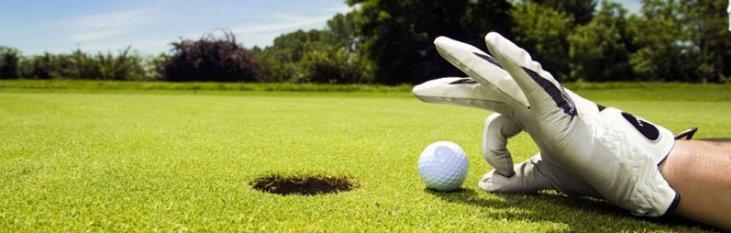 golfen, golfbal, putten