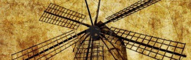 traditionele, windmolen, mallorca, windmill