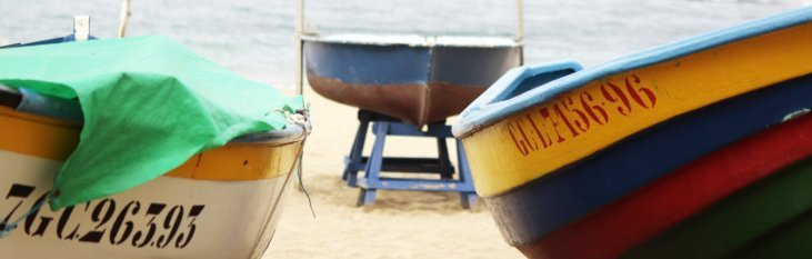 boten, strand, playa, del ingles