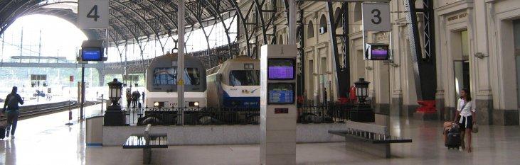 barcelona, spanje, trein, vervoer, vakantie